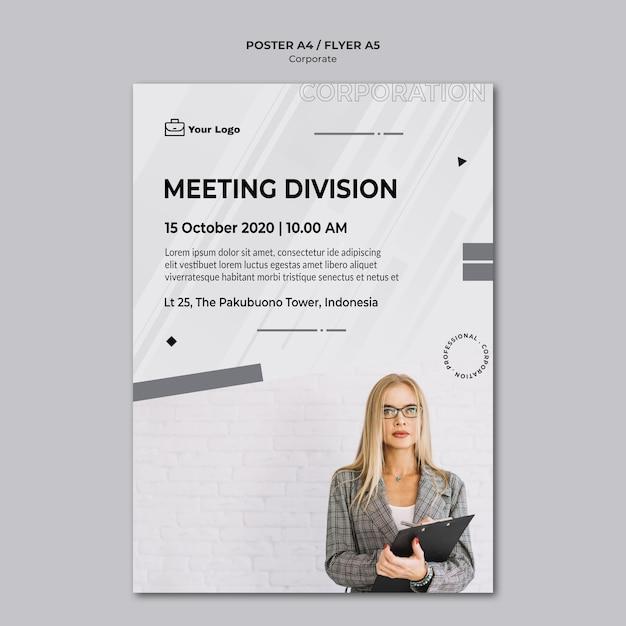 Flyer-vorlage für corporate design Kostenlosen PSD