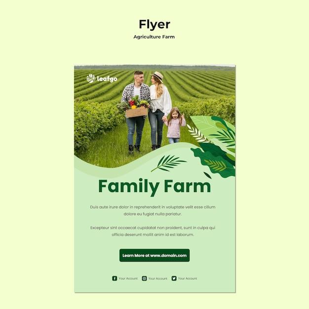 Flyer-vorlage für das landwirtschaftsfarmkonzept Kostenlosen PSD