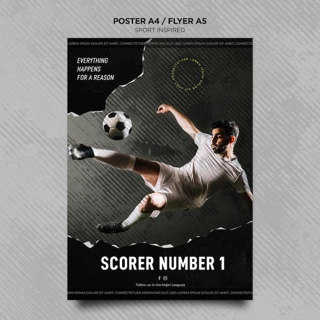 Flyer vorlage für fußballverein Kostenlosen PSD