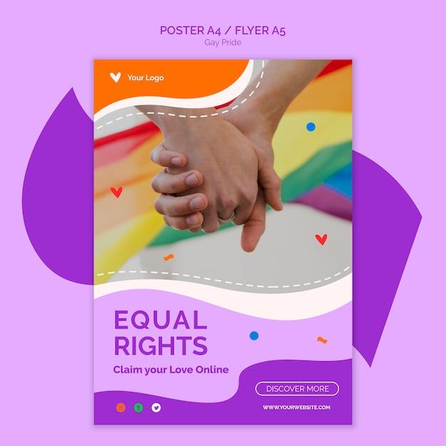 Flyer-vorlage für gleichberechtigung Kostenlosen PSD