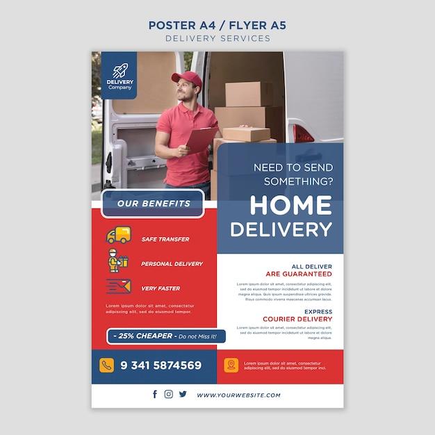 Flyer-vorlage für lieferservices Kostenlosen PSD