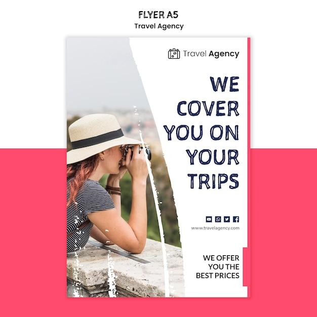 Flyer-vorlage für reisebüros Kostenlosen PSD