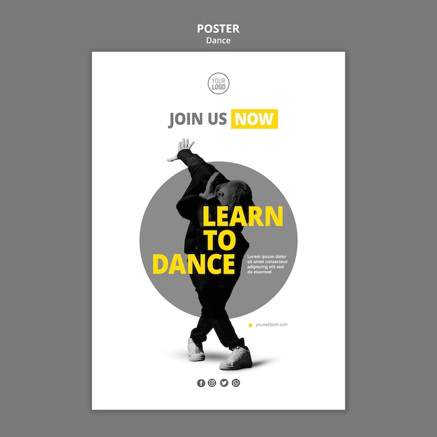 Flyer vorlage für tanzstunden Kostenlosen PSD