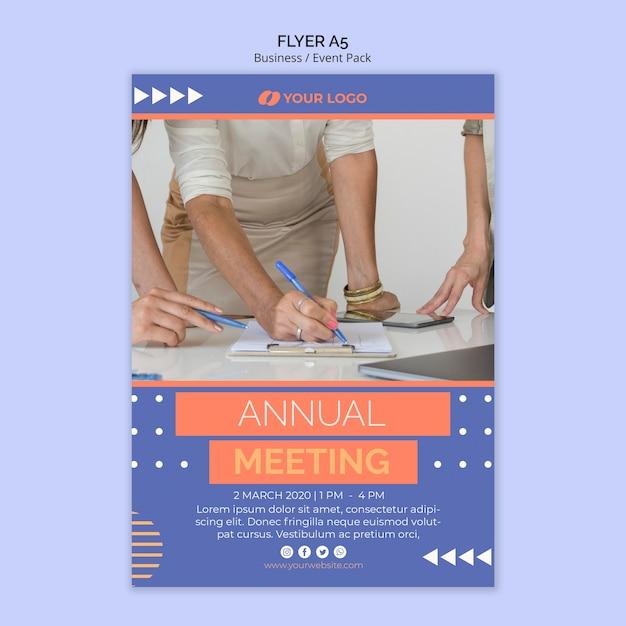 Flyer vorlage mit business-event-thema Kostenlosen PSD