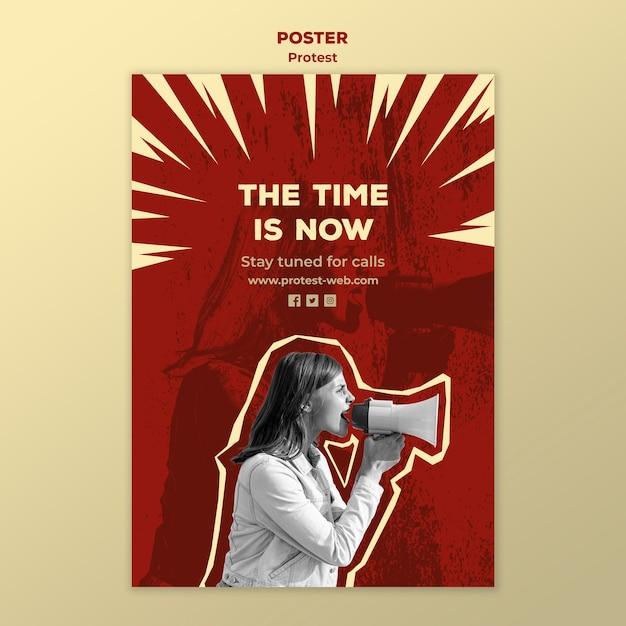 Flyer vorlage mit protest für menschenrechte Kostenlosen PSD