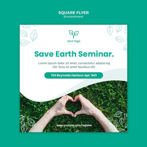 Flyer vorlage mit umweltstil Kostenlosen PSD