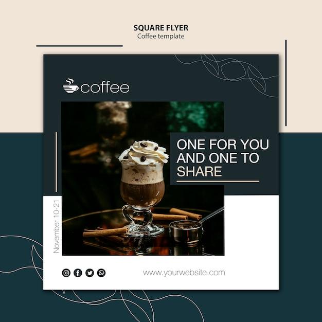 Flyer-vorlagenkonzept mit kaffee Kostenlosen PSD