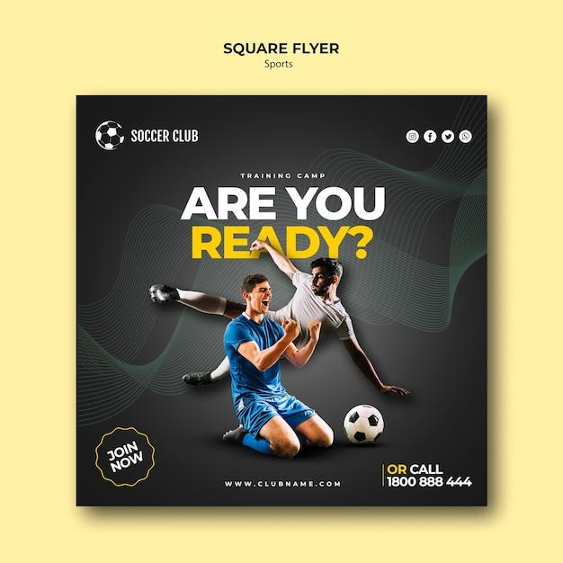 Flyer zum fußballklub-trainingslager Kostenlosen PSD