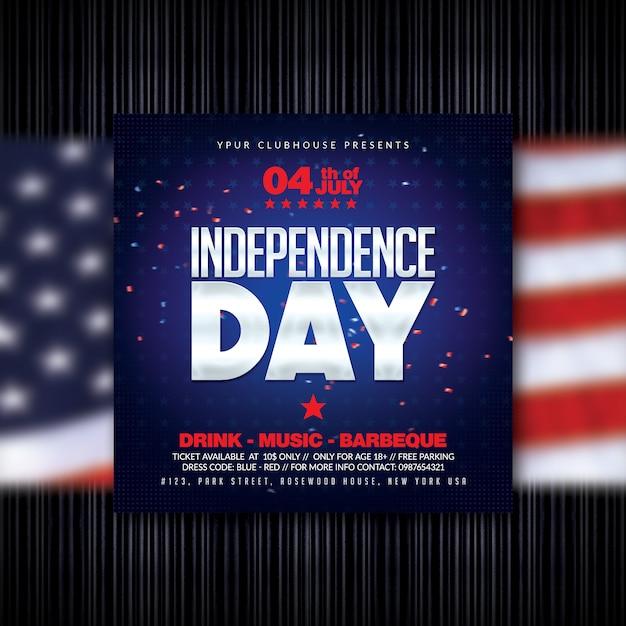 Flyer zum unabhängigkeitstag Premium PSD