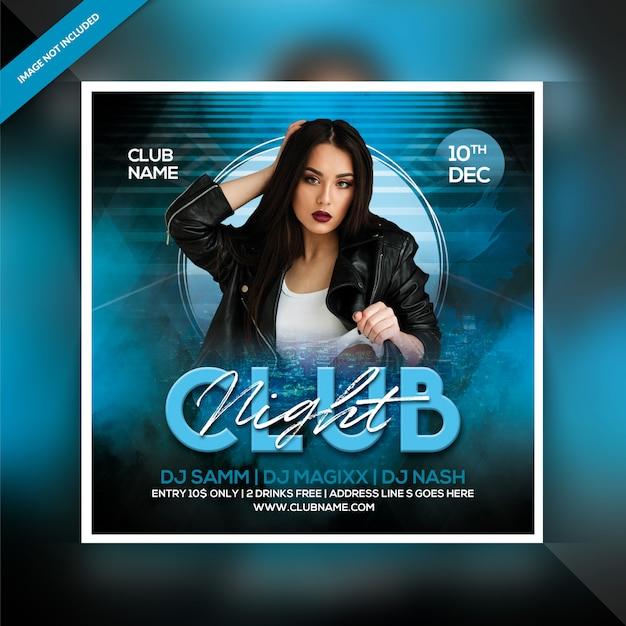 Flyer zur clubnachtparty Premium PSD