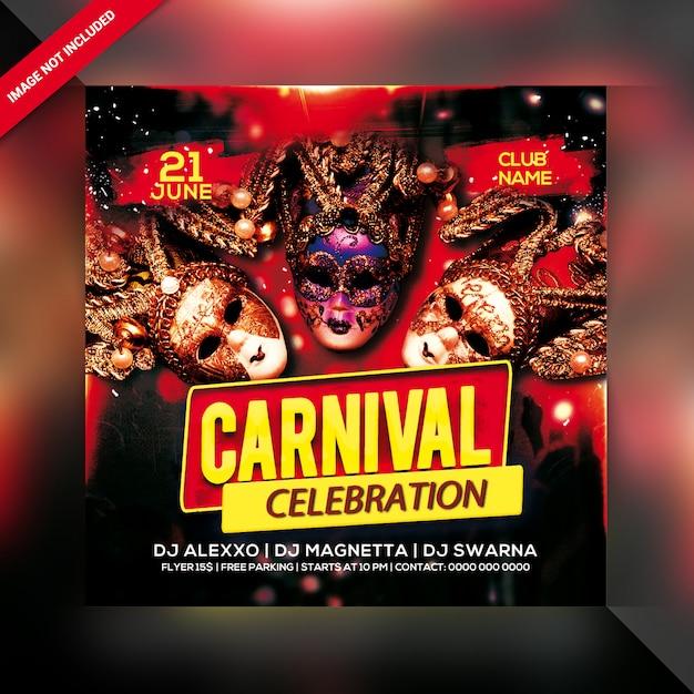 Flyer zur karnevalsfeier Premium PSD