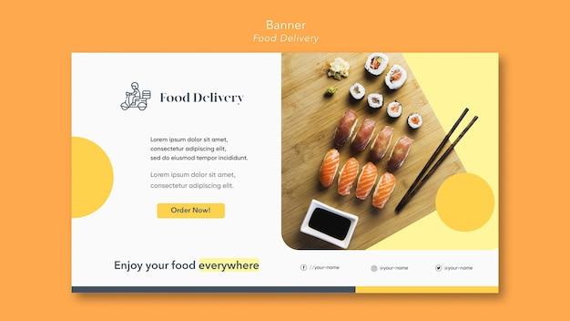 Food delivery banner vorlage Kostenlosen PSD