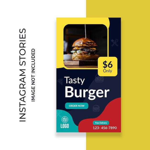 Food instagram geschichten Premium PSD