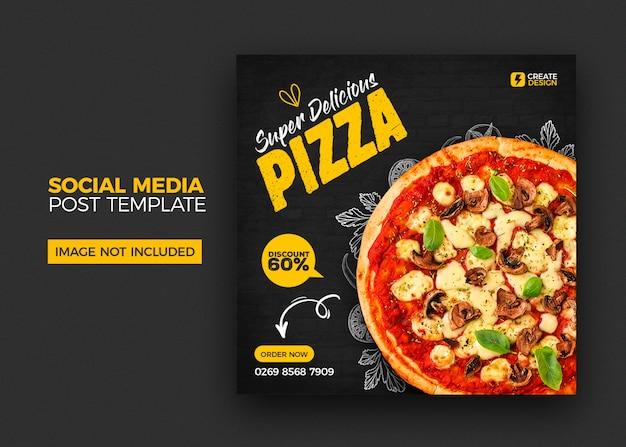 Food-menü und restaurant social media banner post vorlage Premium PSD