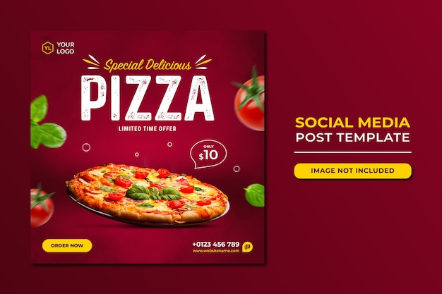 Food social media promotion und instagram banner post design vorlage Premium PSD