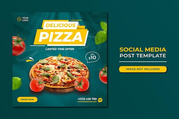 Food social media werbung und instagram banner post design vorlage Premium PSD