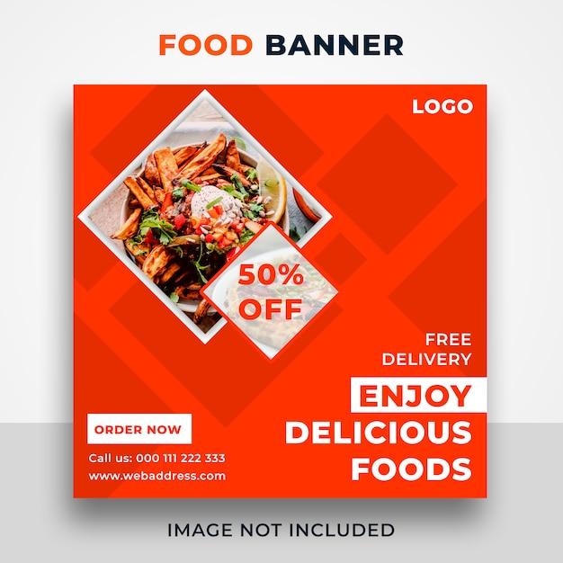 Food web banner template-design Premium PSD
