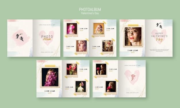 Fotoalbum vorlage zum valentinstag Kostenlosen PSD