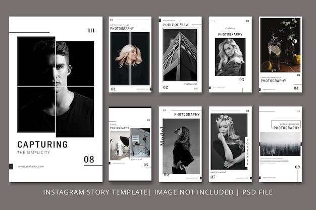 Fotografie instagram stories grafikvorlage Premium PSD
