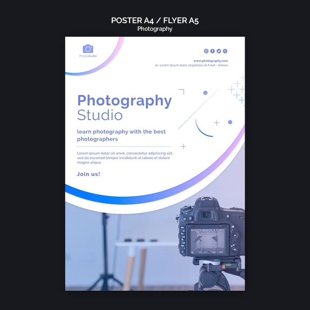 Fotostudio flyer druckvorlage Kostenlosen PSD