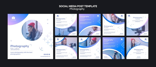 Fotostudio social media post vorlage Premium PSD