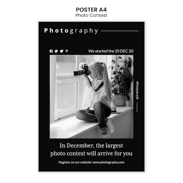 Fotowettbewerb poster vorlage design Premium PSD