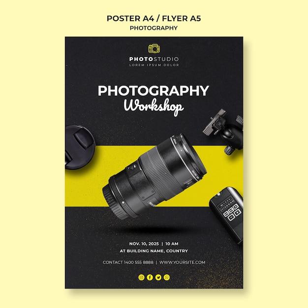 Fotoworkshop flyer vorlage Kostenlosen PSD