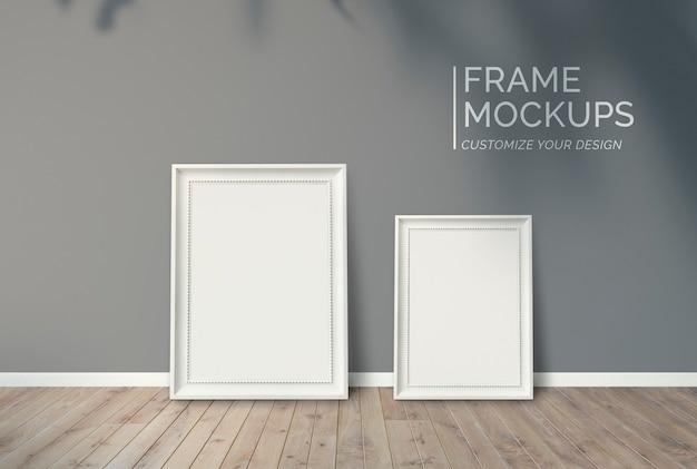 Frames an eine wand gelehnt Kostenlosen PSD