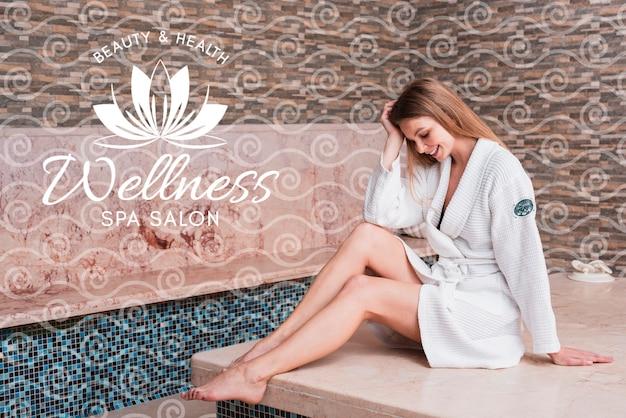 Frau im spa für die schönheitspflege Kostenlosen PSD