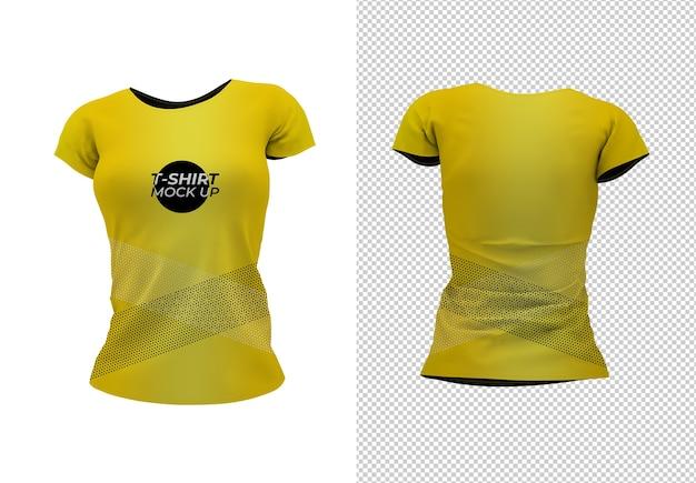 Frau t-shirt verspotten Premium PSD