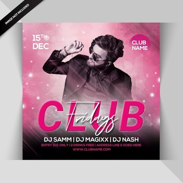 Freitags club party flyer Premium PSD