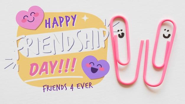 Friendship day event mit büroklammern Kostenlosen PSD