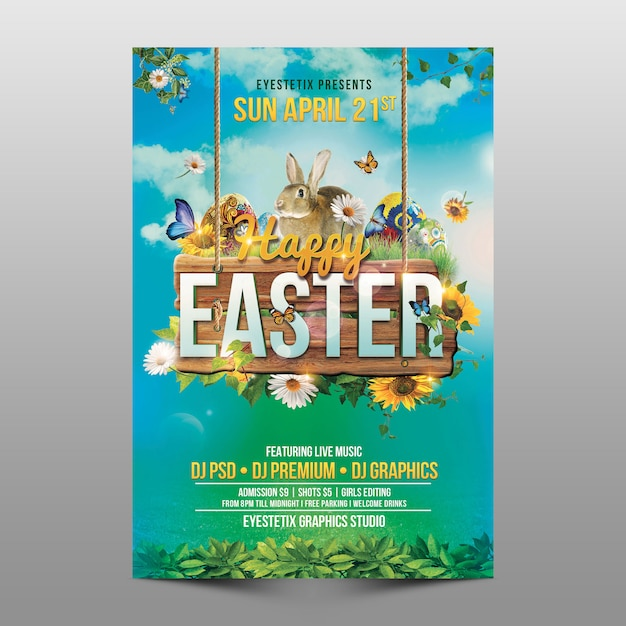 Frohe ostern Premium PSD