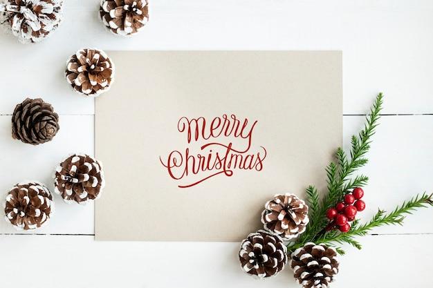 Frohe weihnachten grußkartenmodell Kostenlosen PSD