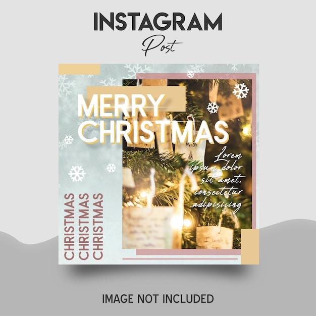 Frohe weihnachten social media und instagram post vorlage Premium PSD