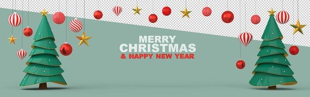 Frohe weihnachten und ein glückliches neues jahr Premium PSD