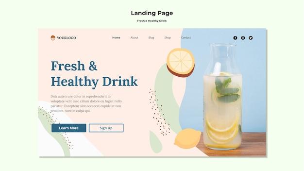 Fruchtsaft landingpage vorlage Kostenlosen PSD