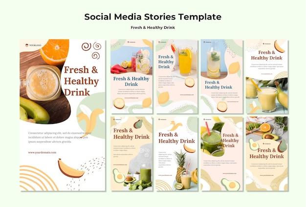 Fruchtsaft social media geschichten vorlage Kostenlosen PSD