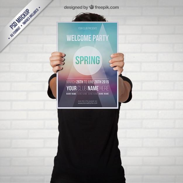 Frühling partei plakat Kostenlosen PSD