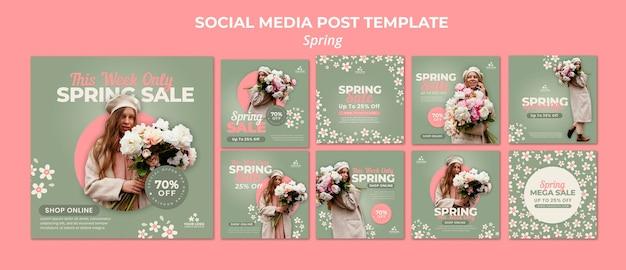 Frühling social media beiträge Premium PSD