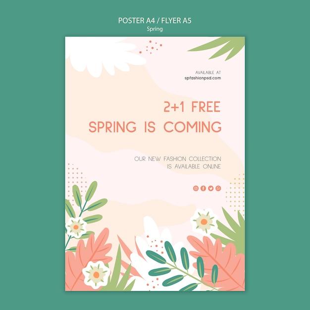 Frühlingskollektion plakat vorlage Kostenlosen PSD