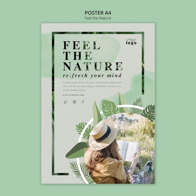 Fühle das naturplakat-thema Kostenlosen PSD
