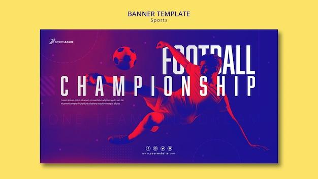 Fußballmeisterschaft banner vorlage Kostenlosen PSD