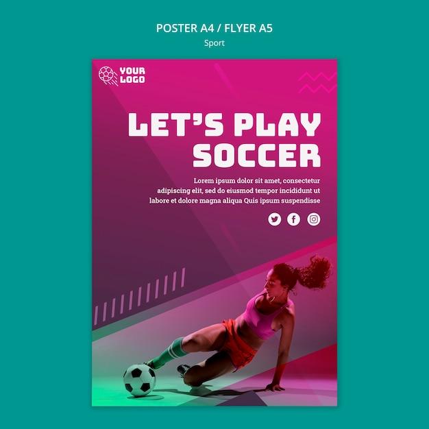 Fußballtraining poster vorlage Kostenlosen PSD
