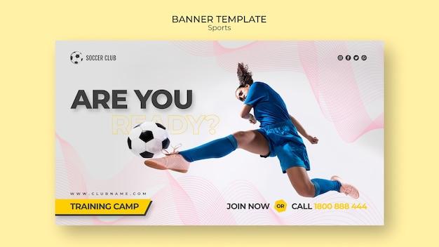 Fußballverein-trainingslager-fahnenschablone Kostenlosen PSD