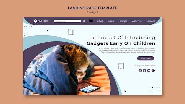 Gadget impact landing page vorlage Kostenlosen PSD