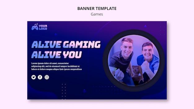 Game spot banner vorlage Kostenlosen PSD