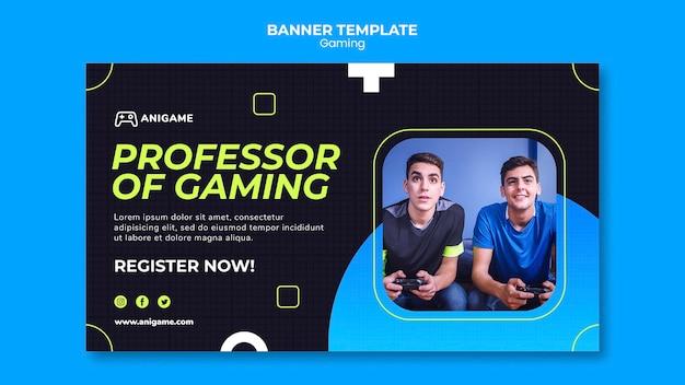 Gaming-konzept banner design Kostenlosen PSD