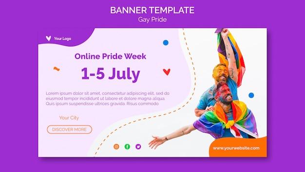 Gay pride banner vorlage Kostenlosen PSD