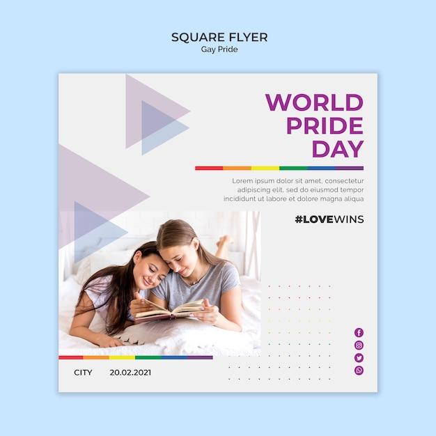 Gay pride square flyer design Kostenlosen PSD